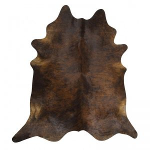 Dark brindle cow hide